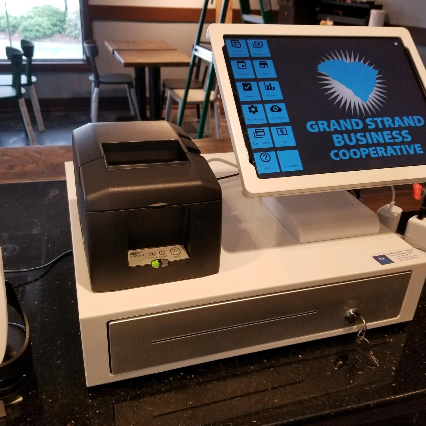 Point of Sale system Register with Receipt Printer, and Barcode Scanner