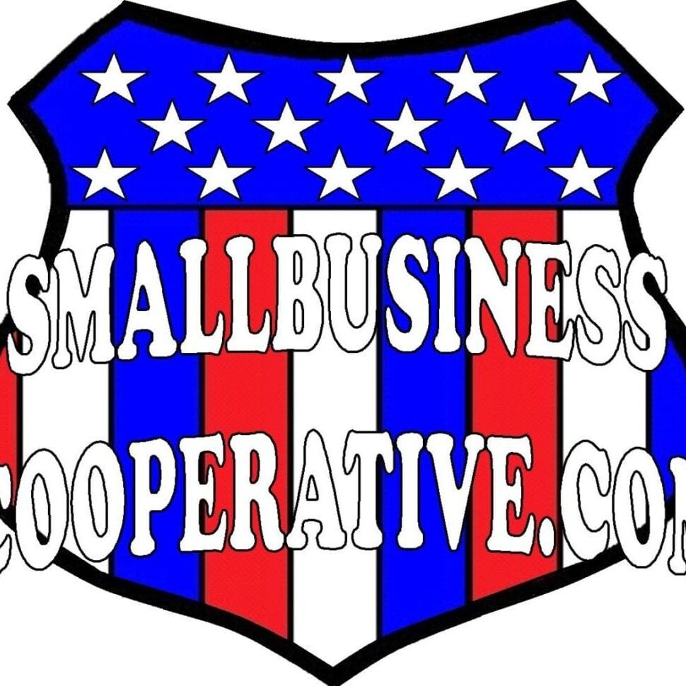 Small Business Cooperative Logo in red, white and blue
